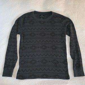 Men's tribal dark gray long sleeve shirt